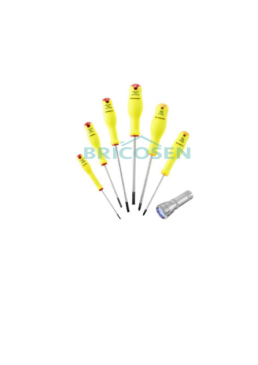 serie de tournevis facom protwist 1 lampe de poche led uv 12 bricosen quincaillerie senegal