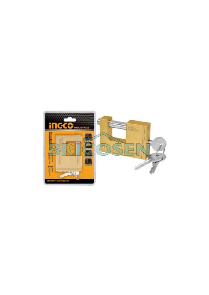 Bloc cadenas en laiton 70mm AXE INGCO DBBPL0702 bricosen quincaillerie senegal