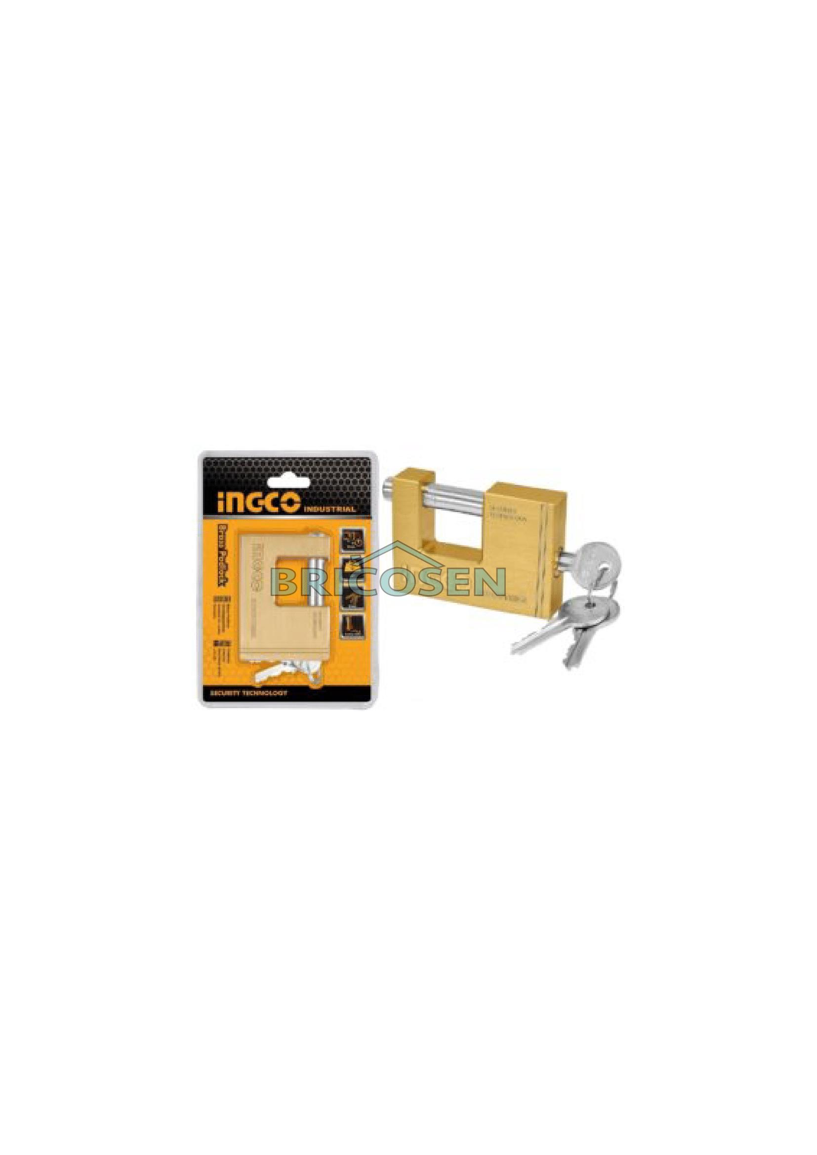 Bloc cadenas en laiton 90mm AXE INGCO DBBPL0902 bricosen quincaillerie senegal