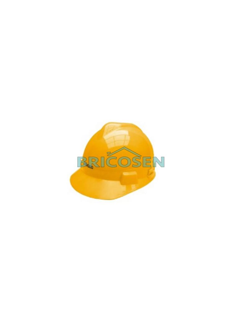 casque de chantier jaune en abs hsh01 ingco quincaillerie senegal